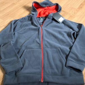 Tek Gear Boys full zip up fleece hoodie size large